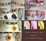 FOR SALE : Pastel Button Chokers (closed)