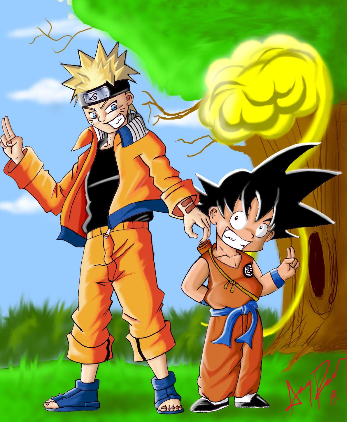 Naruto y Goku by Academico on DeviantArt