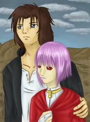 Kiba and Cheza by HaruKaro
