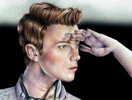 Chris Colfer.Derwent artist. by ElixFranceschini