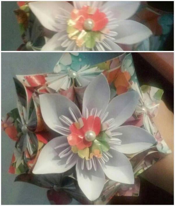 Kusudama Flower Small Bouquet by lightnna on DeviantArt