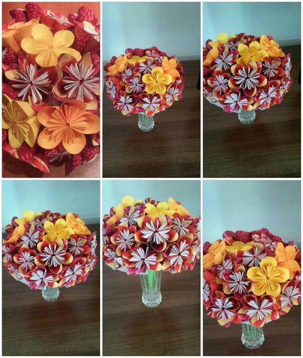 Big Kusudama Flower Bouquet by lightnna on DeviantArt