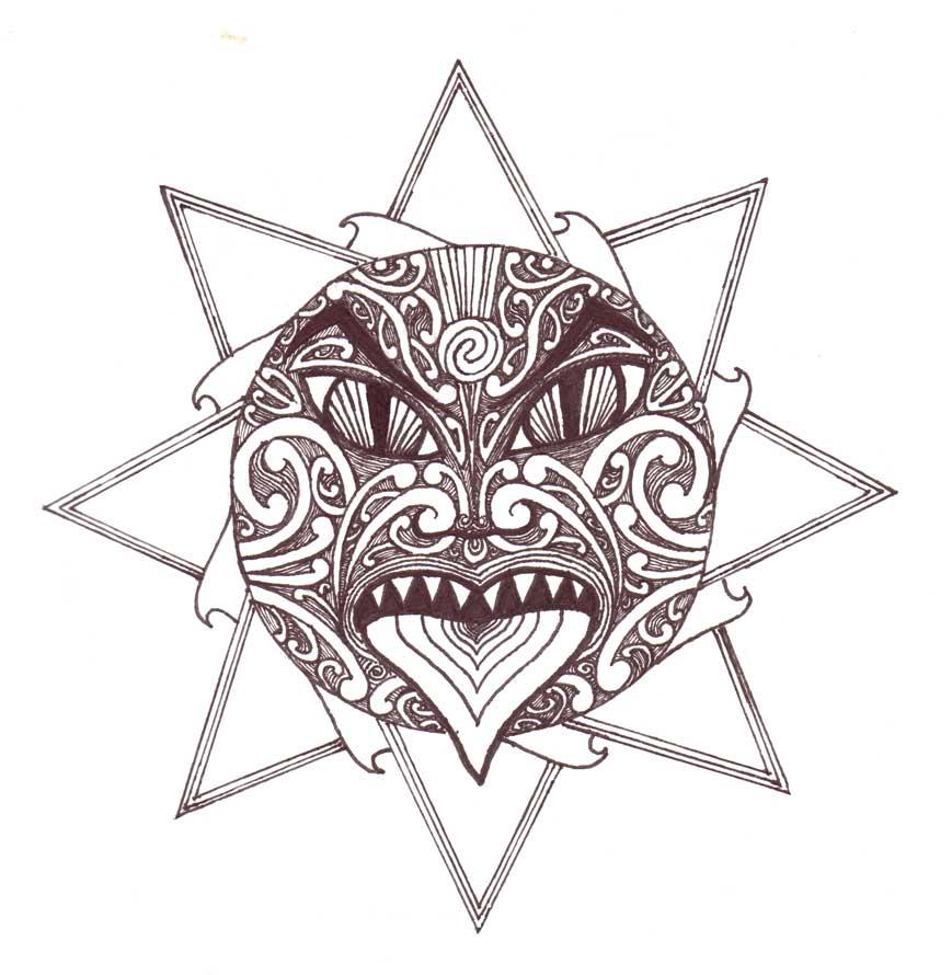 Tattoo Sun Maori: Te Ra By Endymion85 On DeviantArt