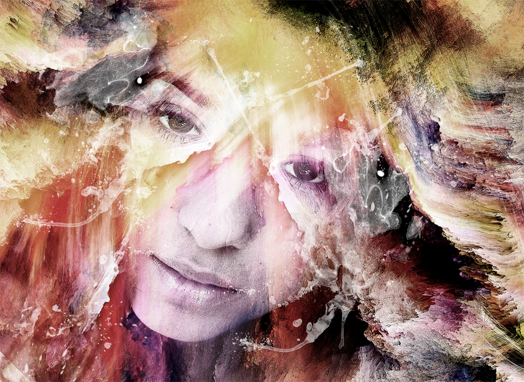 Digital illustration based on my face by nika-art-nikola
