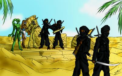 Desert mercenaries by Fruit-Sauvage