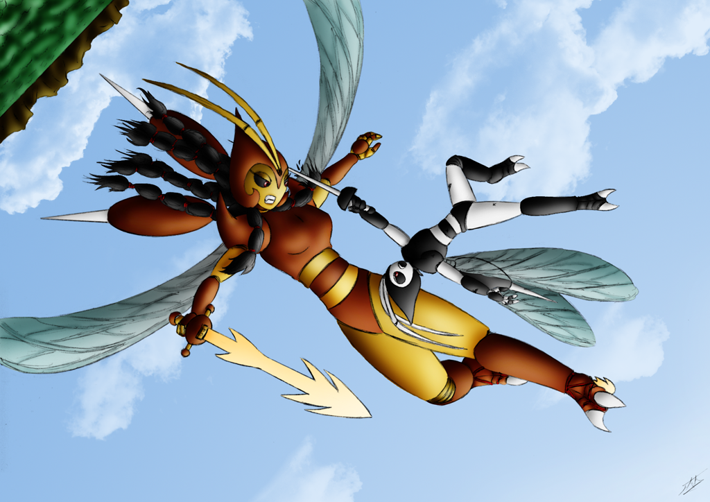 Yuna vs Dipterion by Fruit-Sauvage