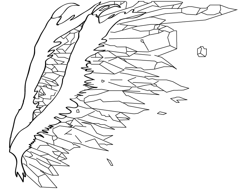 how to draw folded dragon wings