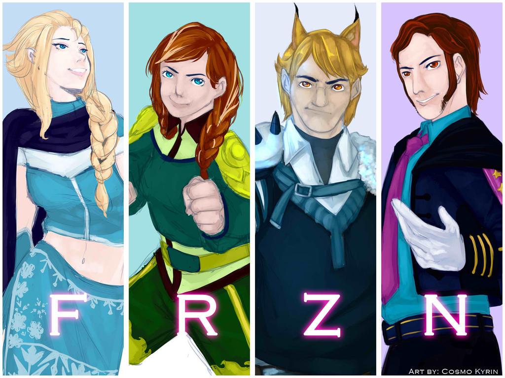 RWBY/Frozen Crossover: Team FRZN by KairinTouzen