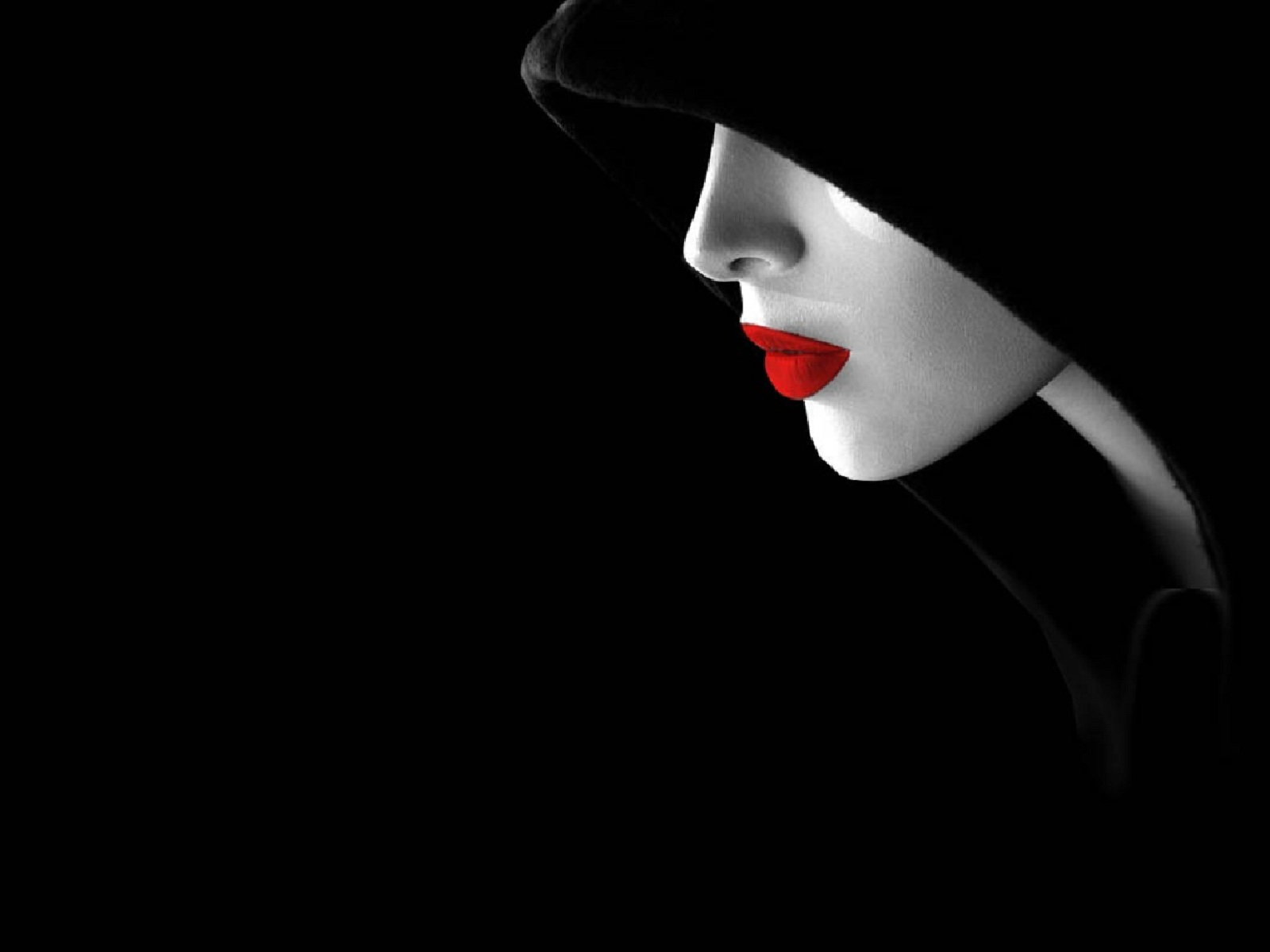 Red lips by paullus23 on deviantart for Black and white 3d wallpaper
