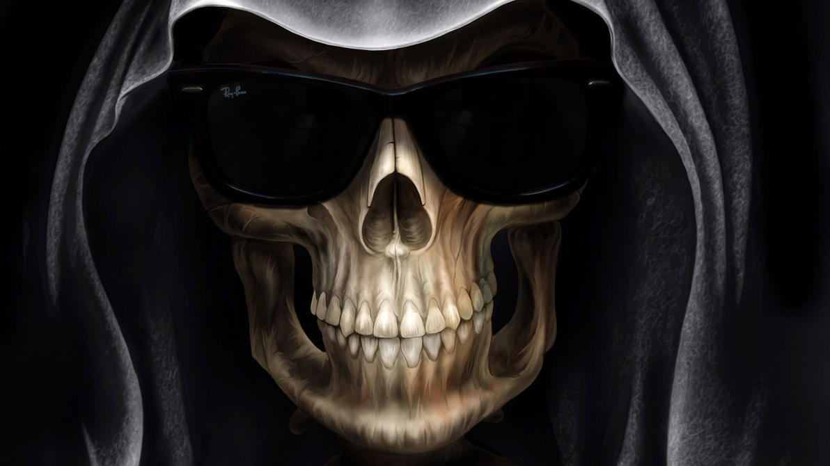 ray ban glass wallpaper  grim reaper with ray ban wayfarer sunglasses by paullus23