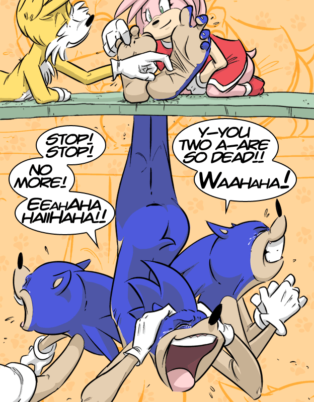 Tails and Amy Torture Sonic by PawFeather