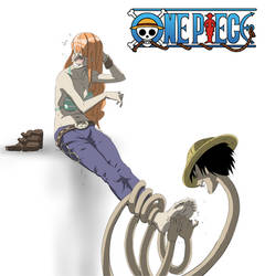 Luffy Tickles Nami