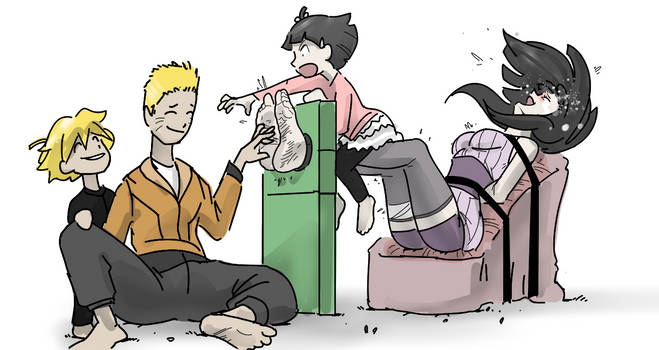 Tickling Mommy Hinata