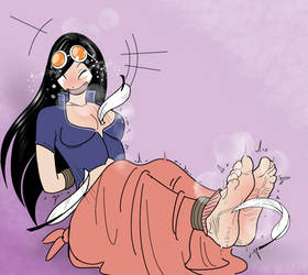 Nico Robin's Ankles Tied and Tickled by PawFeather