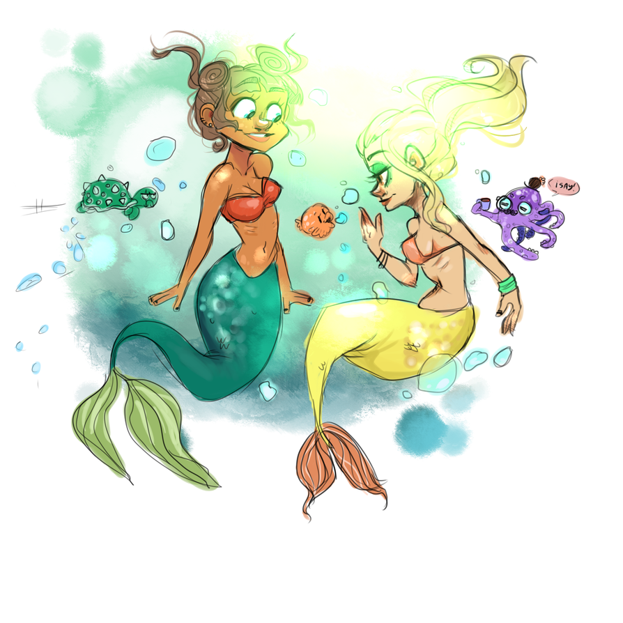 Mermaids Flock Together by hyperstaticUNION