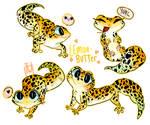 Gecko Lemon Butter Stickersheet