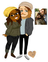Cherieo Chibi Couple commission by temporaryWizard