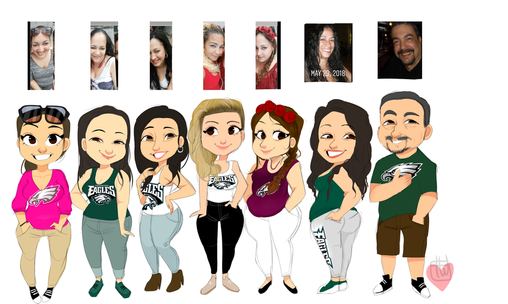 Trulyblessed 7 People chibi commission by temporaryWizard