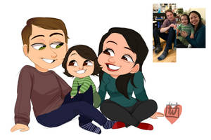 Bryan Fam 3 Set Chibi commission by temporaryWizard
