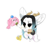 Lucy Mini Chibi And Pet commission by temporaryWizard