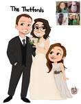 Itspamela Family Wedding 3 commission