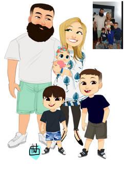 Lourdes Menendez Family 5 Chibi