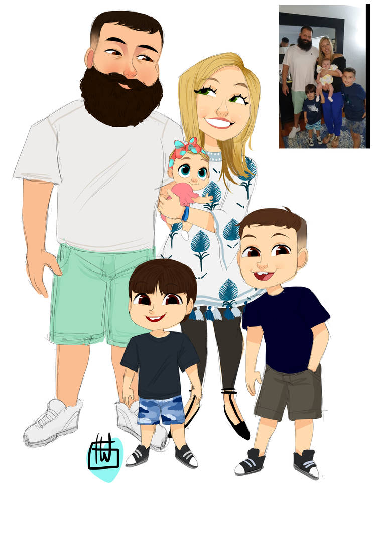 Lourdes Menendez Family 5 Chibi by temporaryWizard