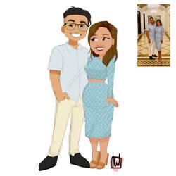 Kazamss Chibi Couple commission by temporaryWizard