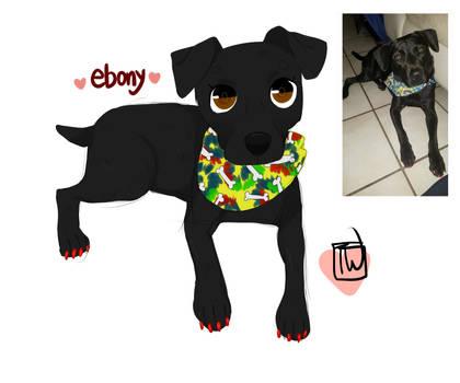 Iamjaney ebony chibi commission