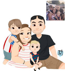 Carole chibi family commission
