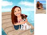 Dayna Chibi full Dog commission