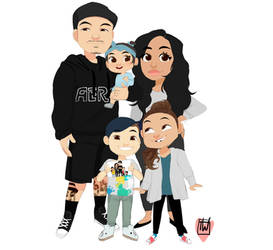 Ninie family portrait commission