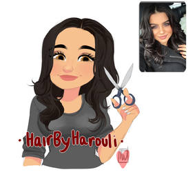 hairstylist logo commission