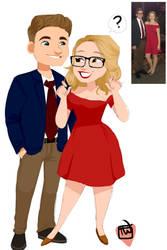 chibi fiance Couple commission