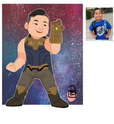 Brianna Thanos Kid chibi commission