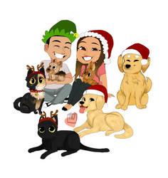 Leka big Family Christmas + pets commission