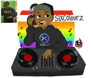 Sixcolorz Turntable commission logo