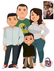 Alybums Family chibi commission