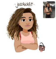 Jossfit bust portrait commission