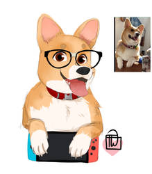 Itsnotlogic Doggo bust portrait commission