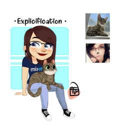 Explicit And Cat chibi commission