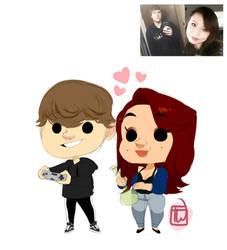 Tsteakk cute mini couple commission