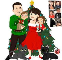 Postkkymcfindley Fam christmas commission