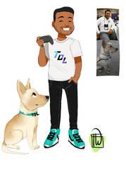 Thadrewleague Chibi with doggo