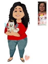 Becca Mom And Dog commission