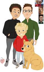 Suki 3 + Dog Fathers day comm