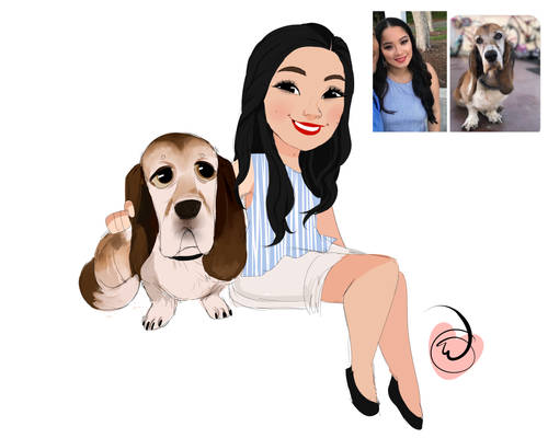 Thaiza and dog commission