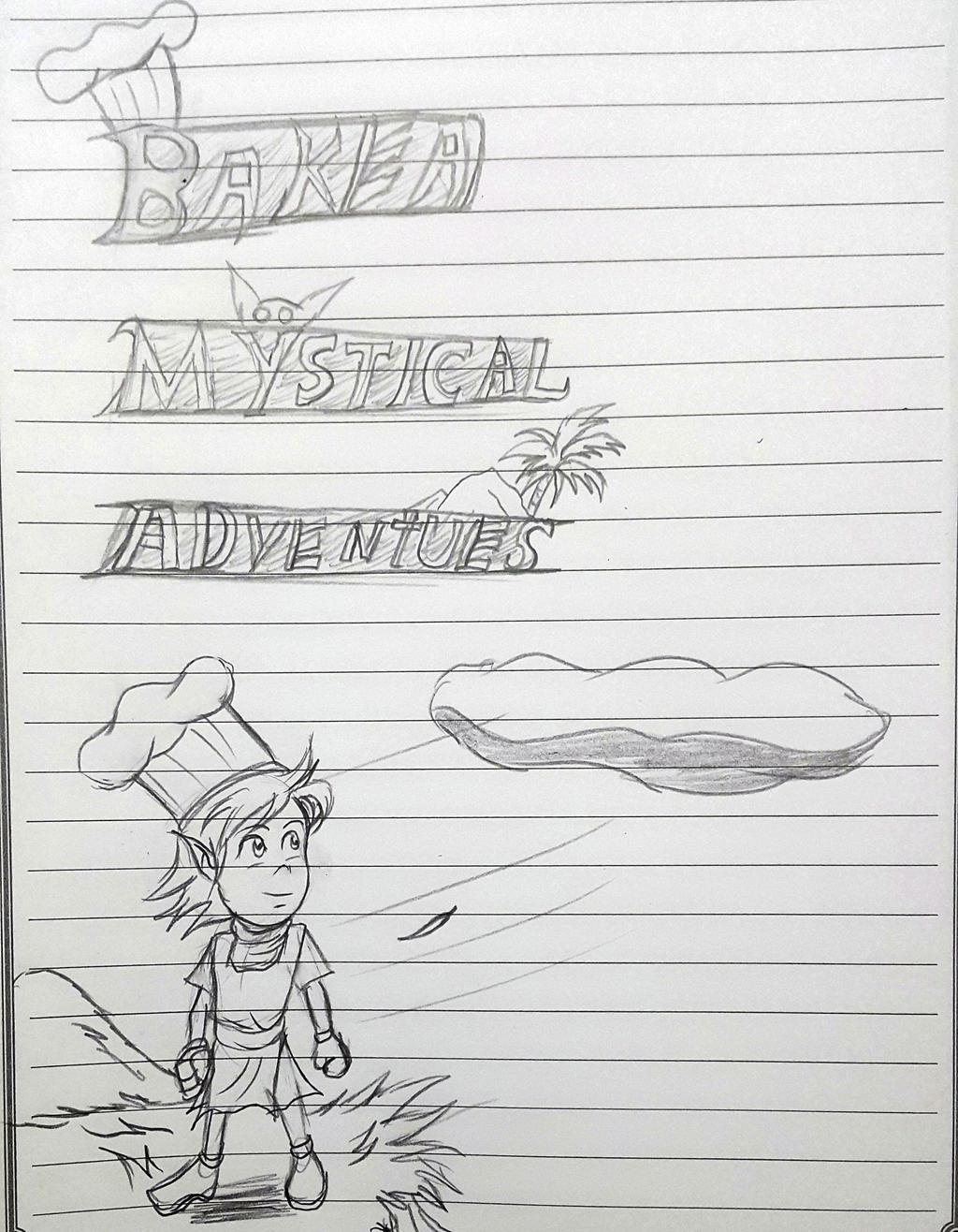 making logo for Baker Mystical Adventures story by ryuu-samazx