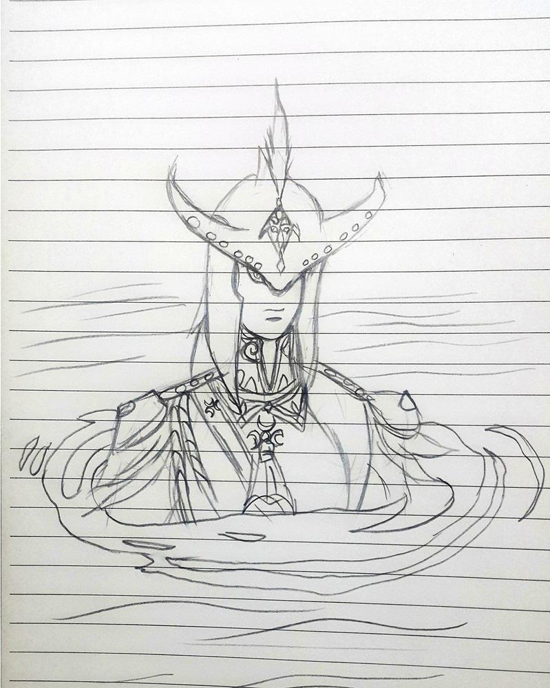 fast sketch for prince sidon by ryuu-samazx