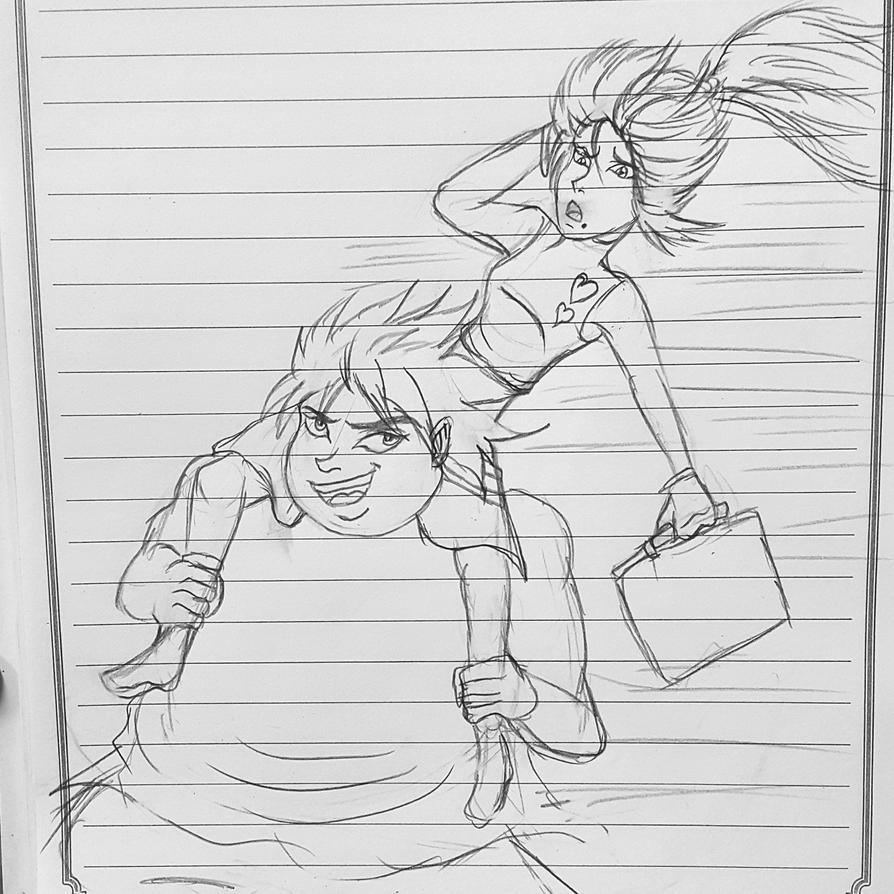 Moon and her boyfriend Lance funny scene by ryuu-samazx